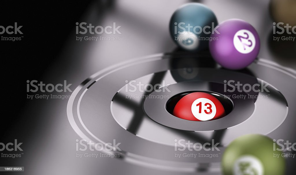 Gambling, Chance and Number 13 stock photo