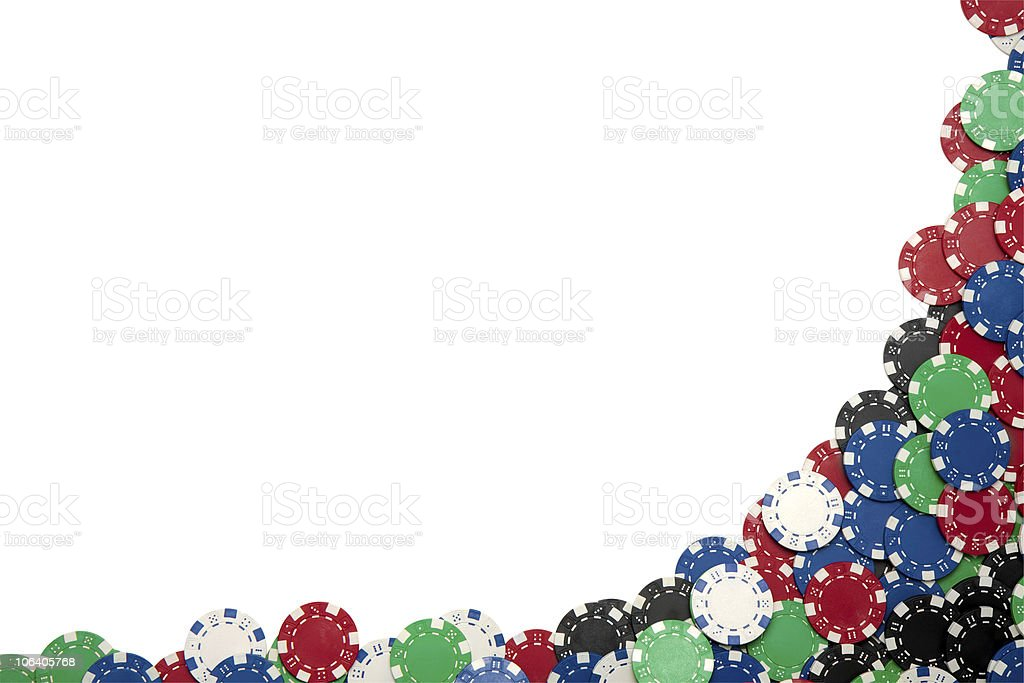 Gambling Chip Border with Clipping Path stock photo