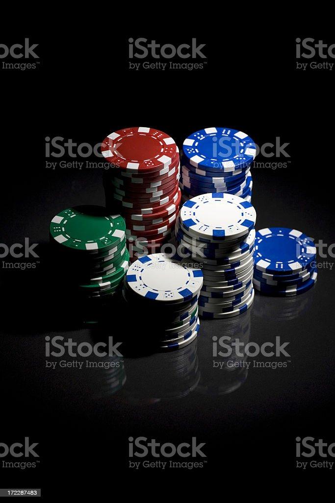Gambling chips royalty-free stock photo