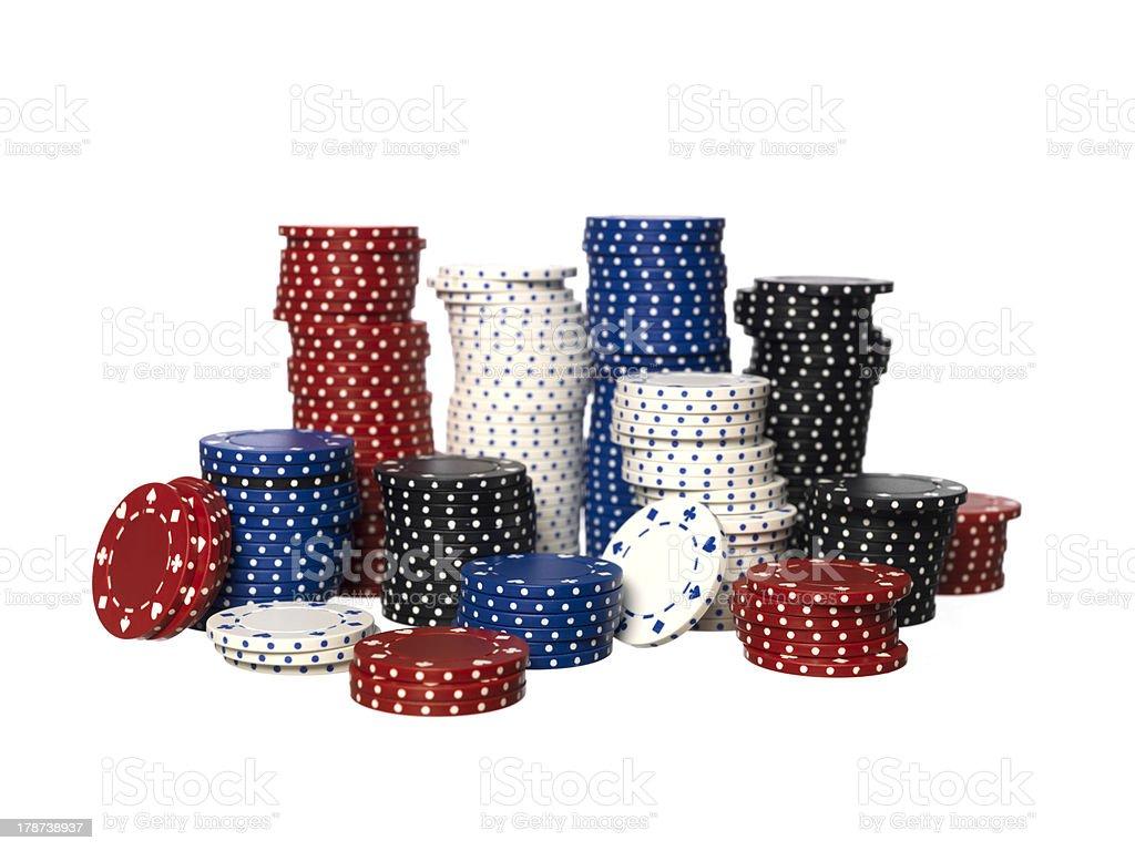 Gambling Chips stock photo