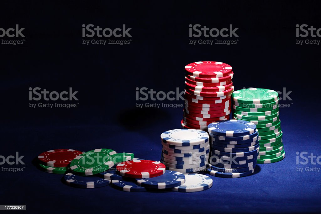 gambling chips with copy space royalty-free stock photo