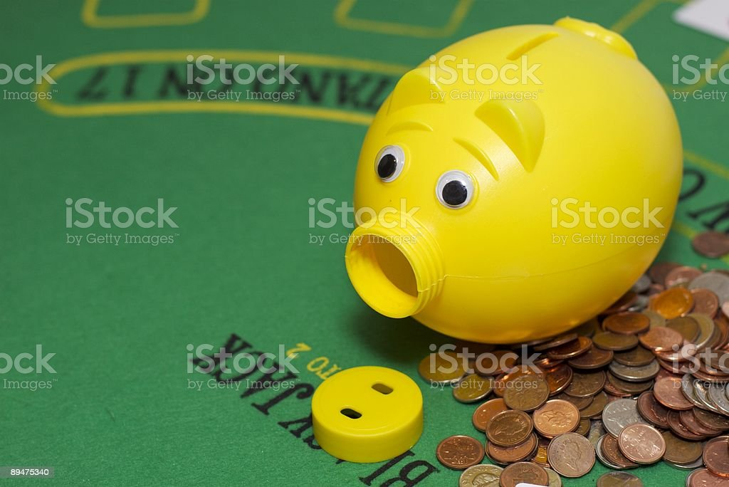 Gambling debts stock photo