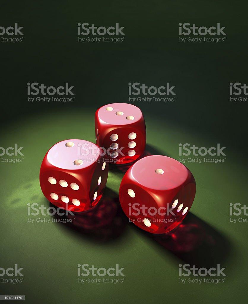 Gambling Dice royalty-free stock photo