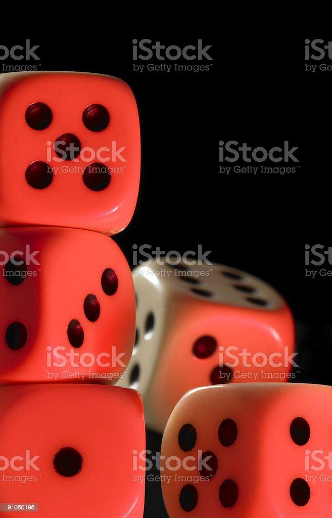 gambling dice stock photo