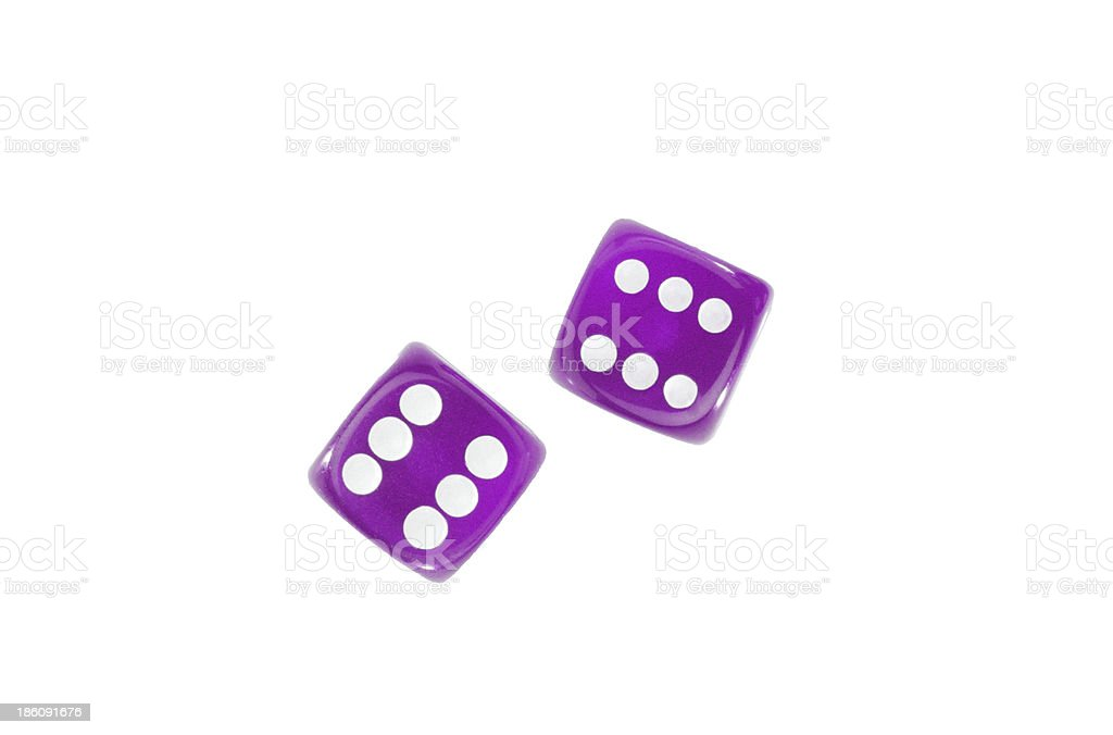 Gambling dices isolated on white background royalty-free stock photo