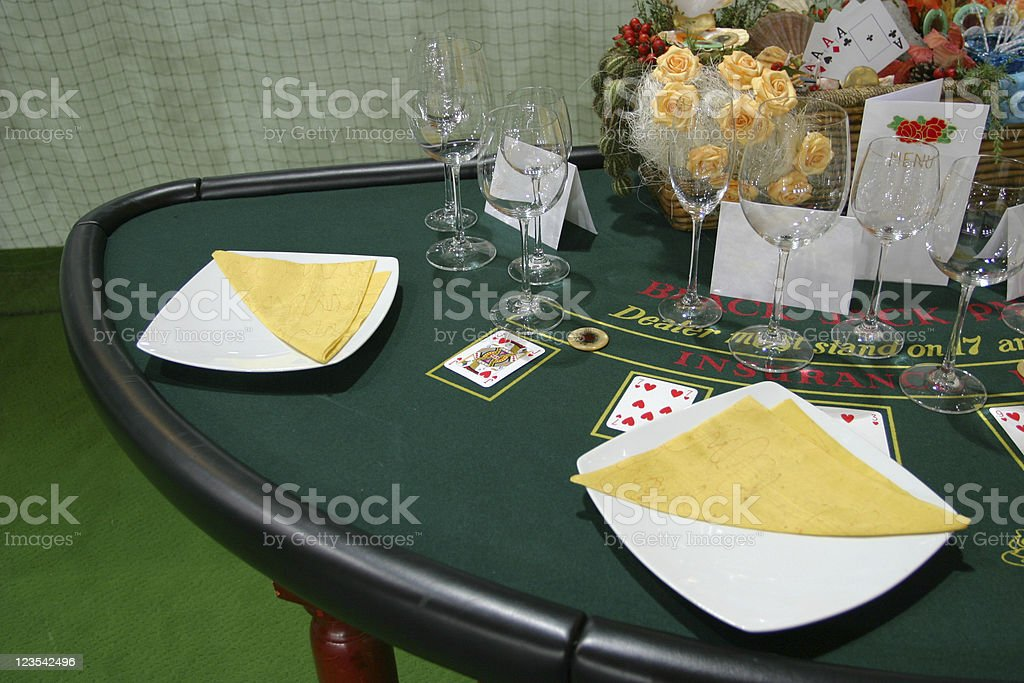 Gambling diner setting royalty-free stock photo