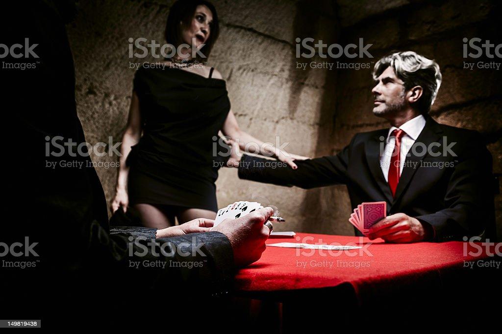 Gambling house. Poker stock photo