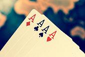 Gambling image, playing cards