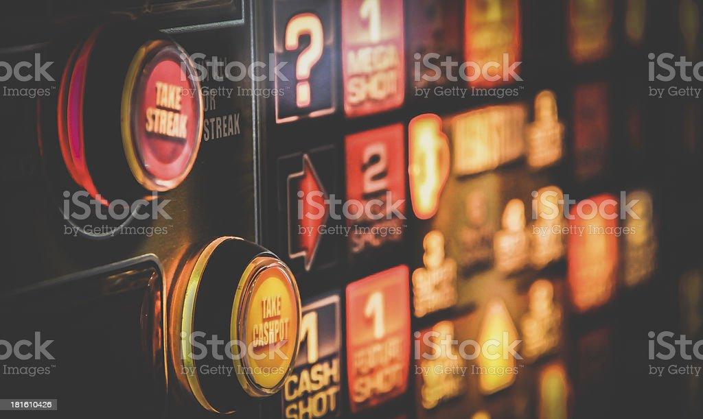 Gambling machine stock photo