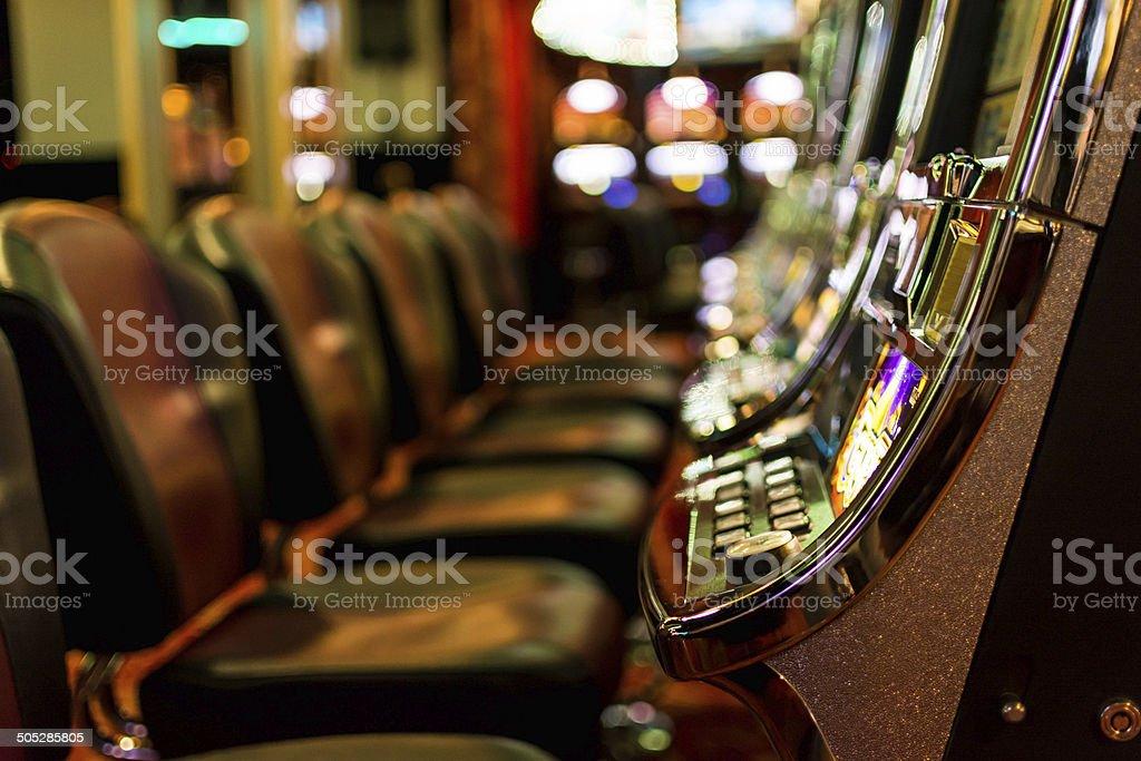 Gambling machines stock photo