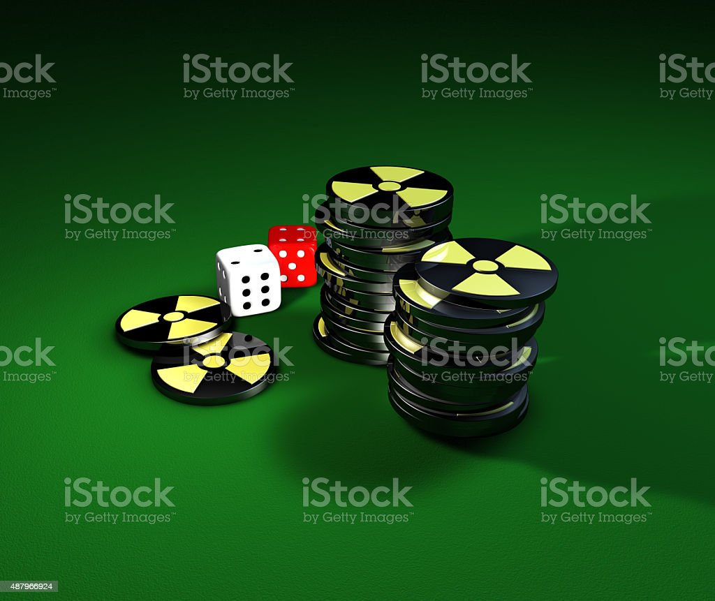Gambling on nuclear energy stock photo