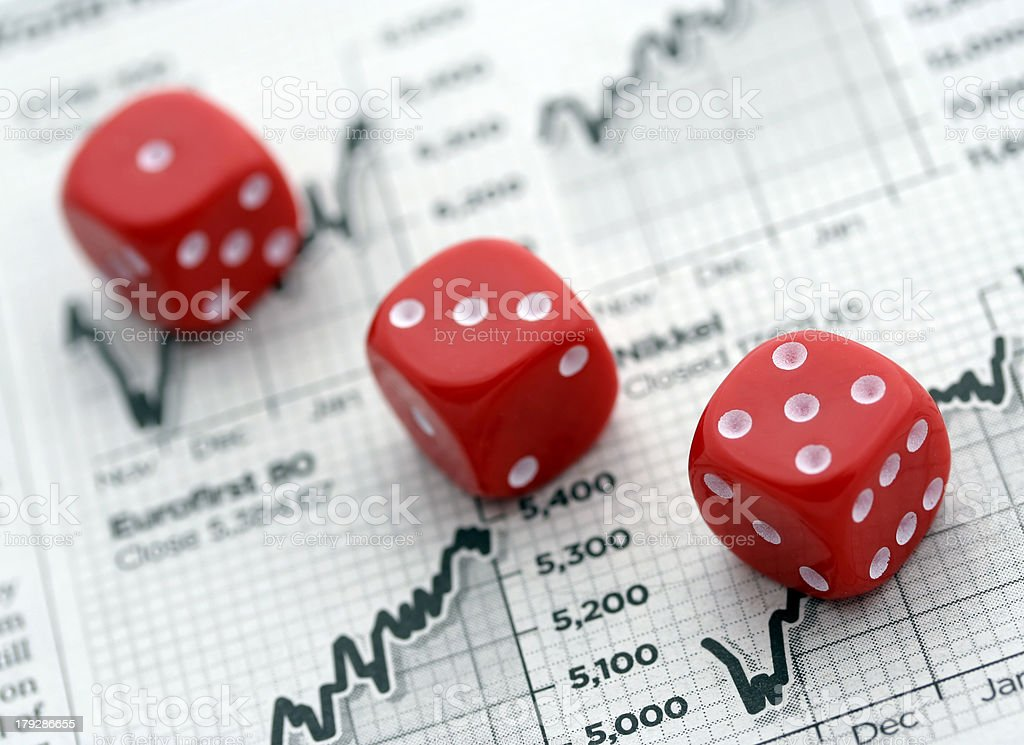 Gambling on the markets royalty-free stock photo