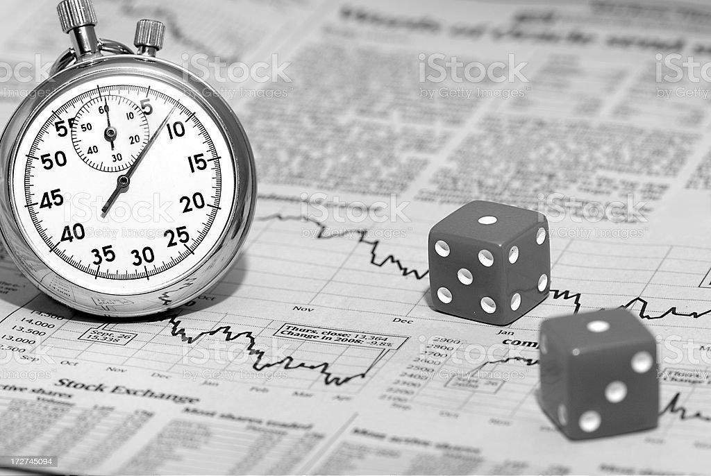 Gambling on Timing stock photo