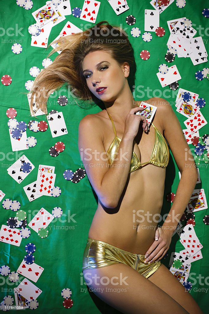 Gambling queen royalty-free stock photo