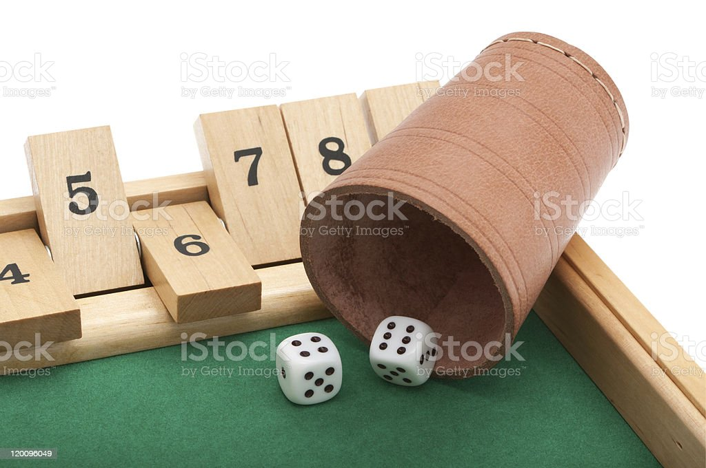 Gambling with dice and clipping path stock photo