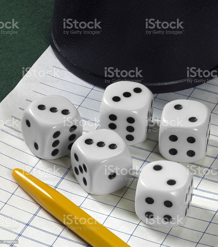 gambling with dice stock photo