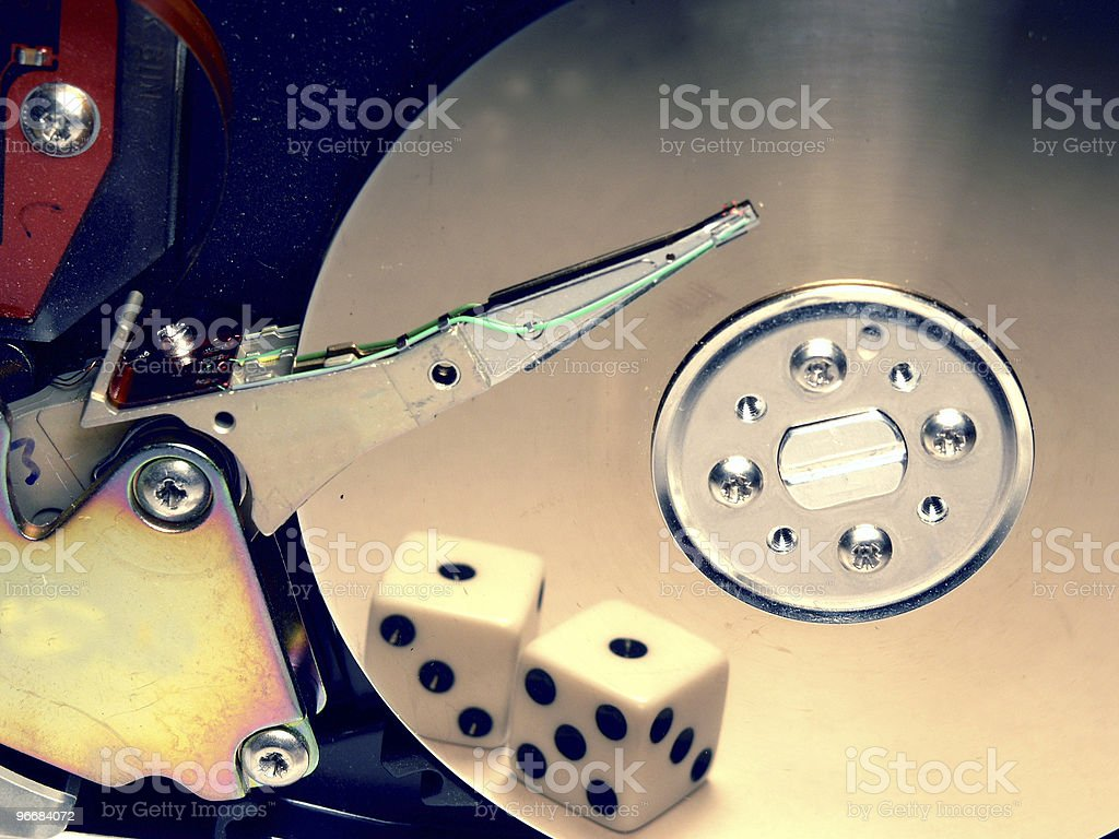 Gambling with your data? royalty-free stock photo