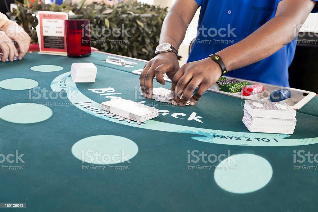 Gambling:blackjack royalty-free stock photo
