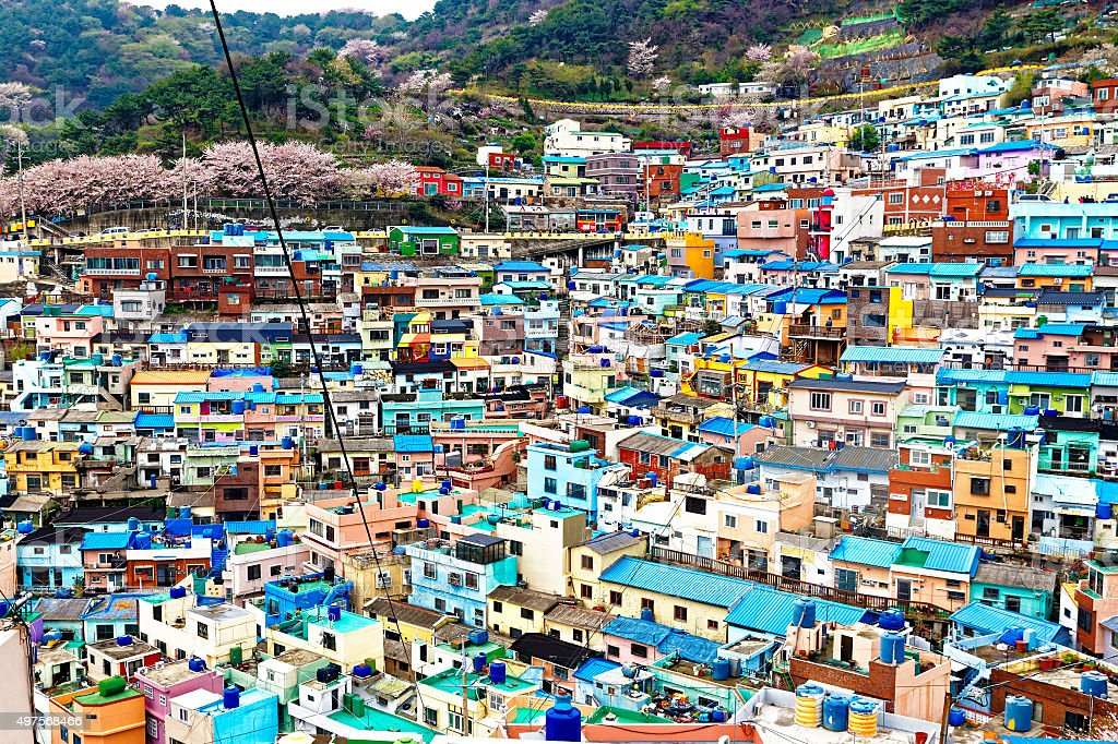Gamcheon Dong Culture Village stock photo