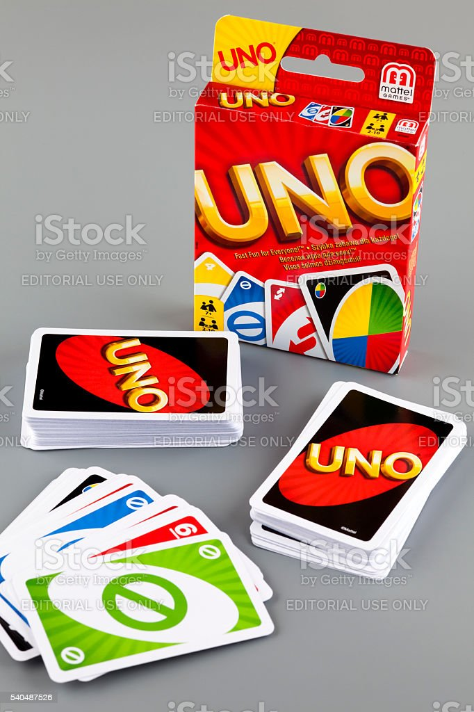 UNO game cards stock photo