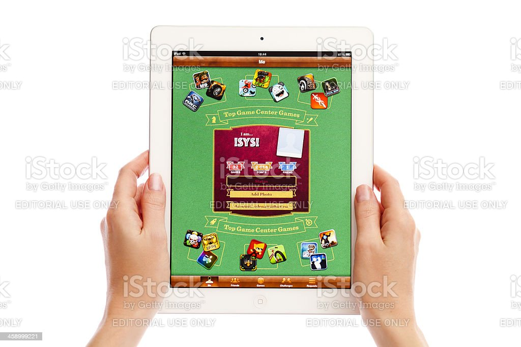 Game Center on iPad royalty-free stock photo