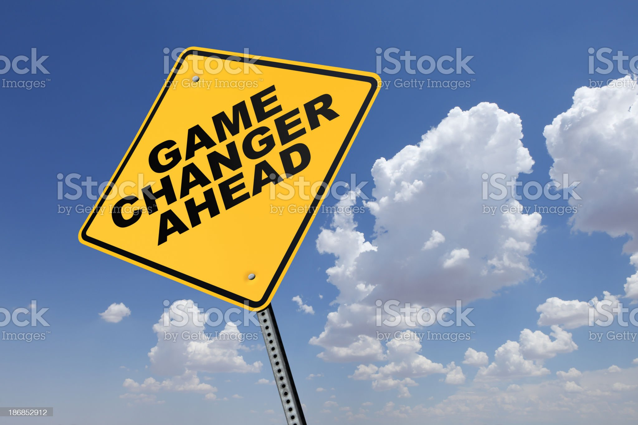 Game Changer Ahead royalty-free stock photo