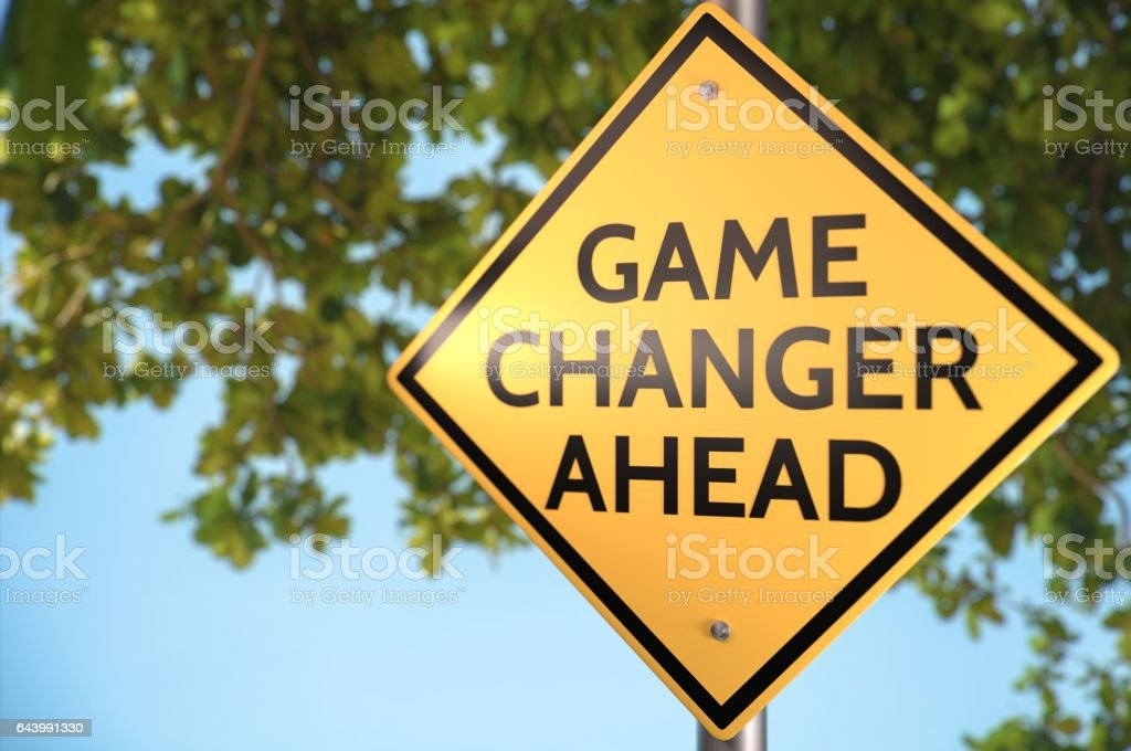 Game Changer Ahead! stock photo