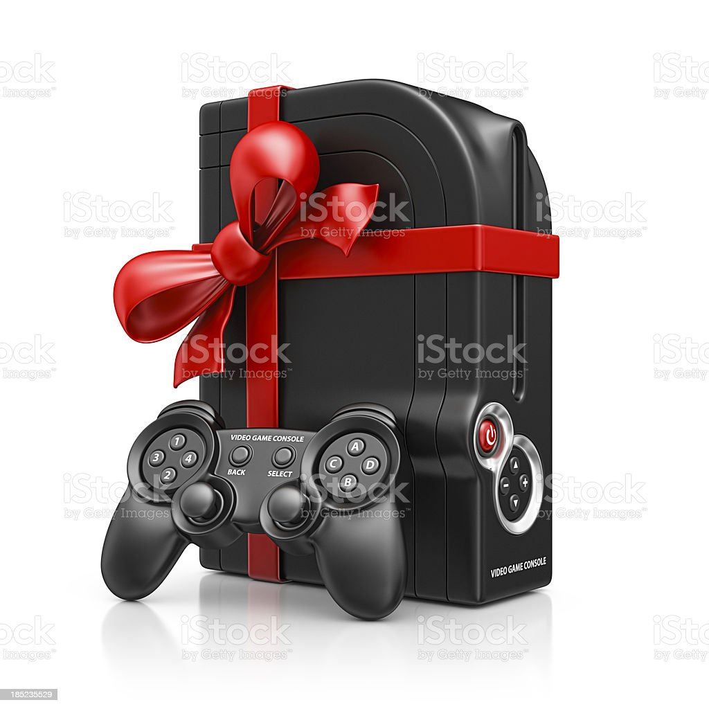 game console gift royalty-free stock photo