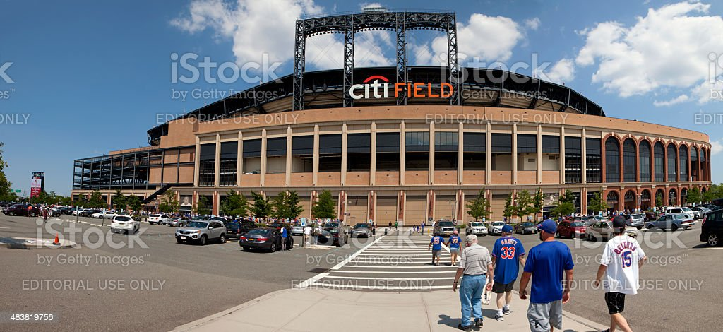 Game Day -Mets Stadium - Queens New York stock photo