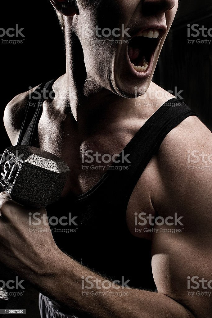 Game Face royalty-free stock photo