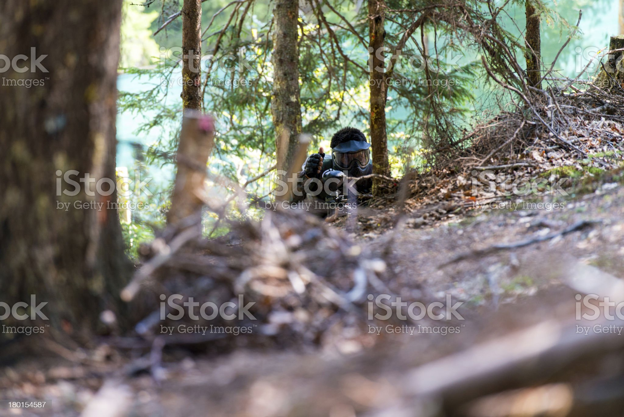 Game In A Paintball royalty-free stock photo