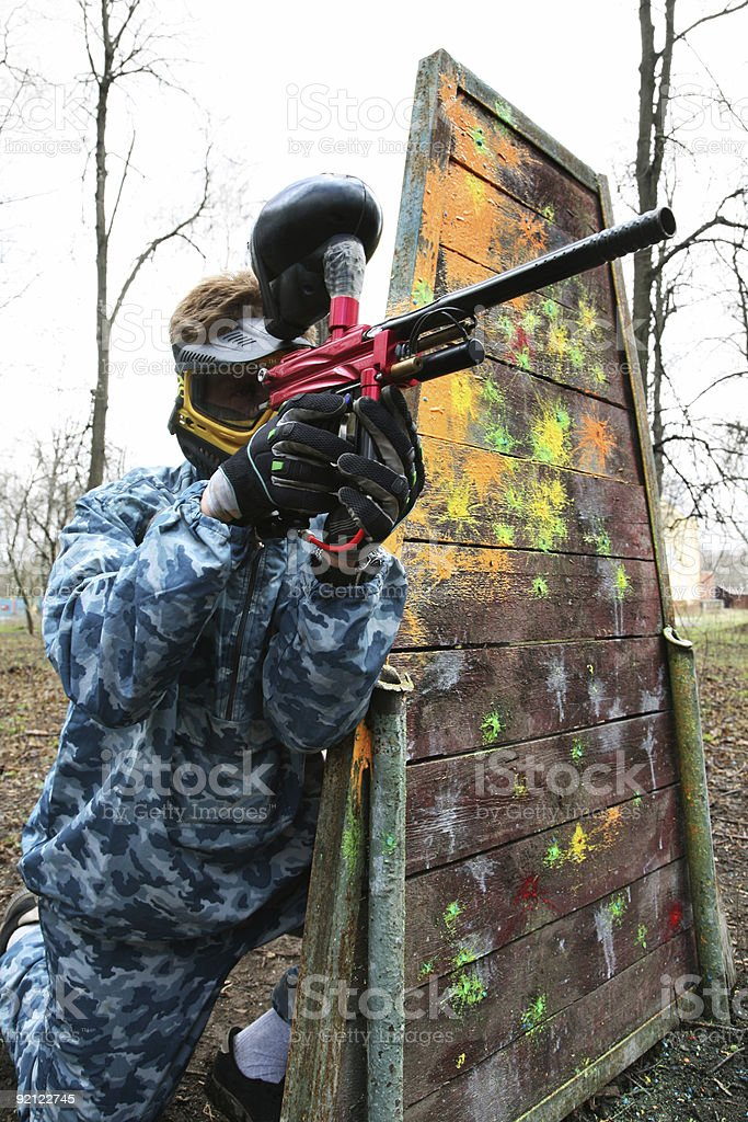 game in a paintball stock photo