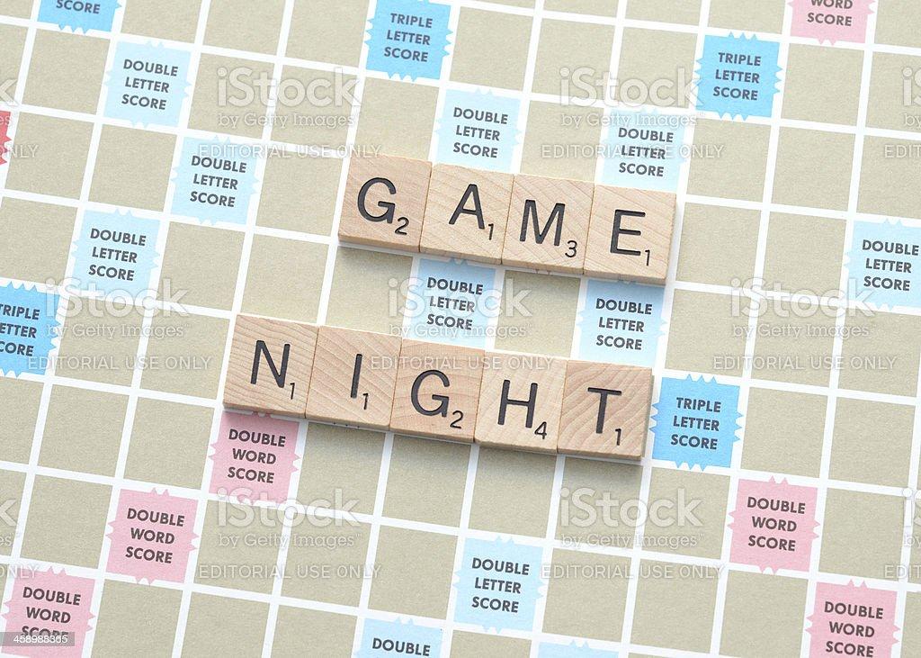 Game Night royalty-free stock photo