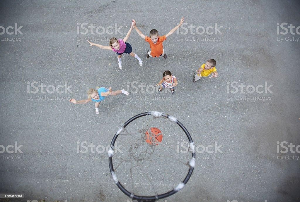 Game of basketball royalty-free stock photo