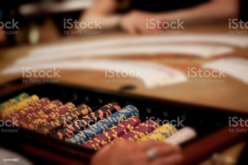 Game of blackjack stock photo