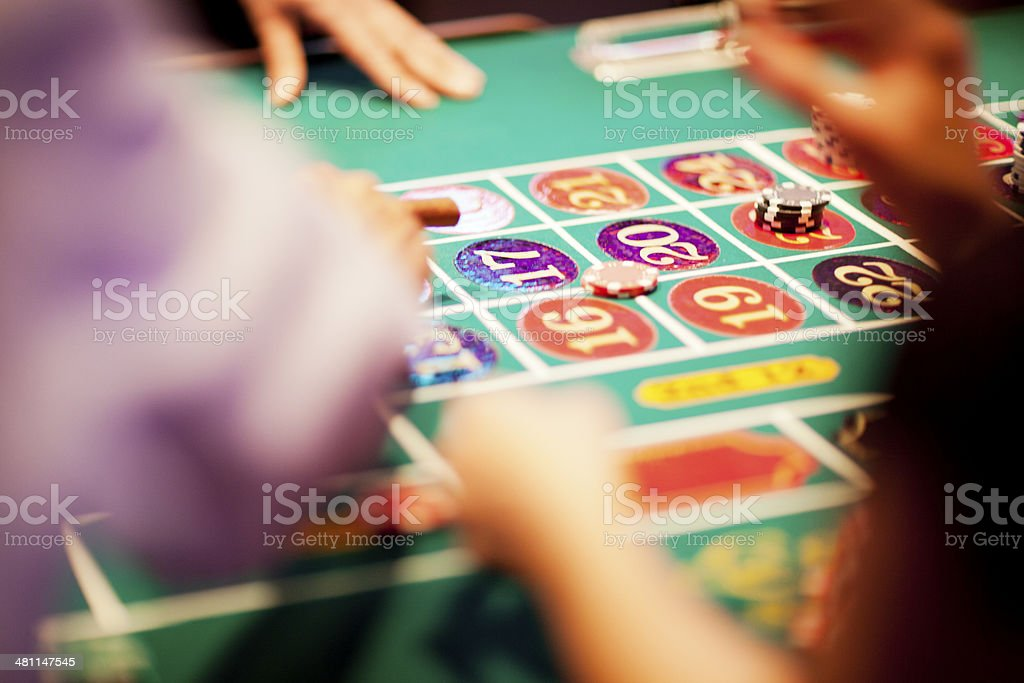 Game of chance (roulette) in progress in the casino royalty-free stock photo