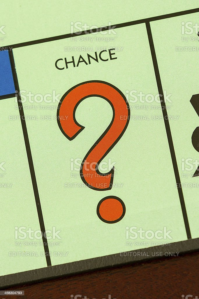 Game of chance stock photo