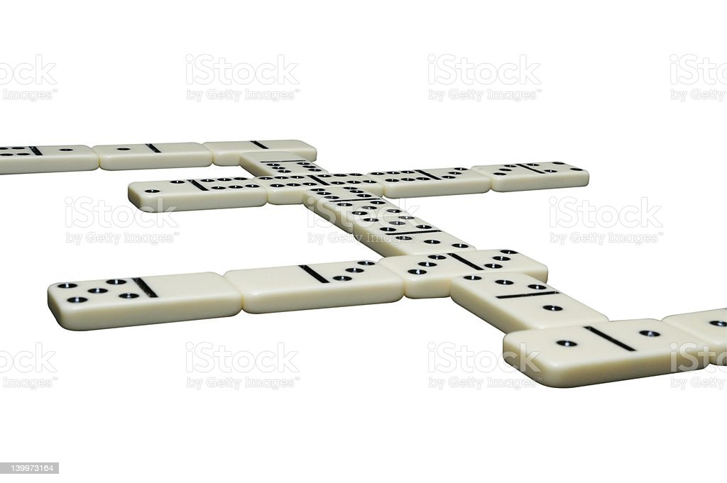 Game of Dominoes Isolated royalty-free stock photo
