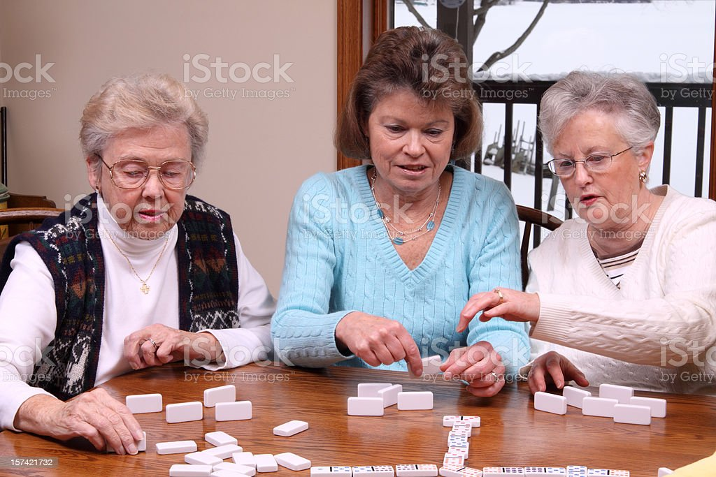 Game of Dominoes royalty-free stock photo
