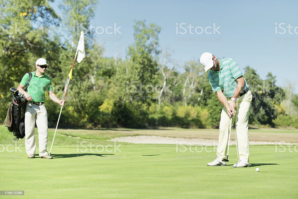 Game of golf stock photo