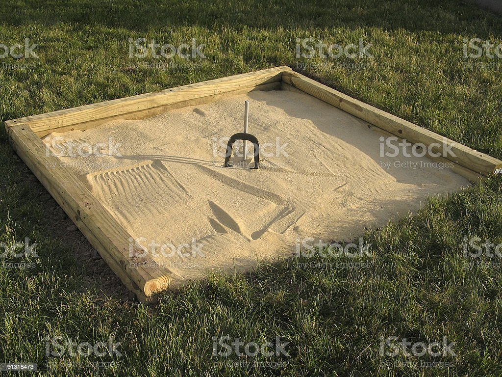 Game of Horseshoes, Recreational Pursuit royalty-free stock photo