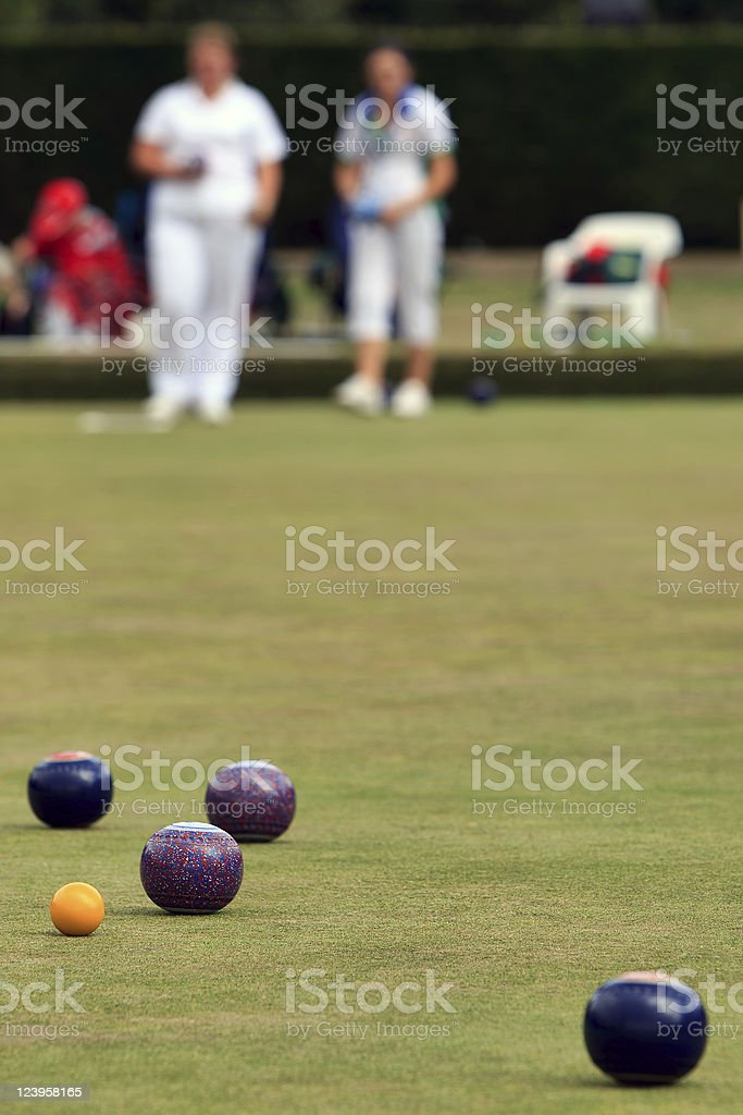 Game of Lawn Bowls royalty-free stock photo