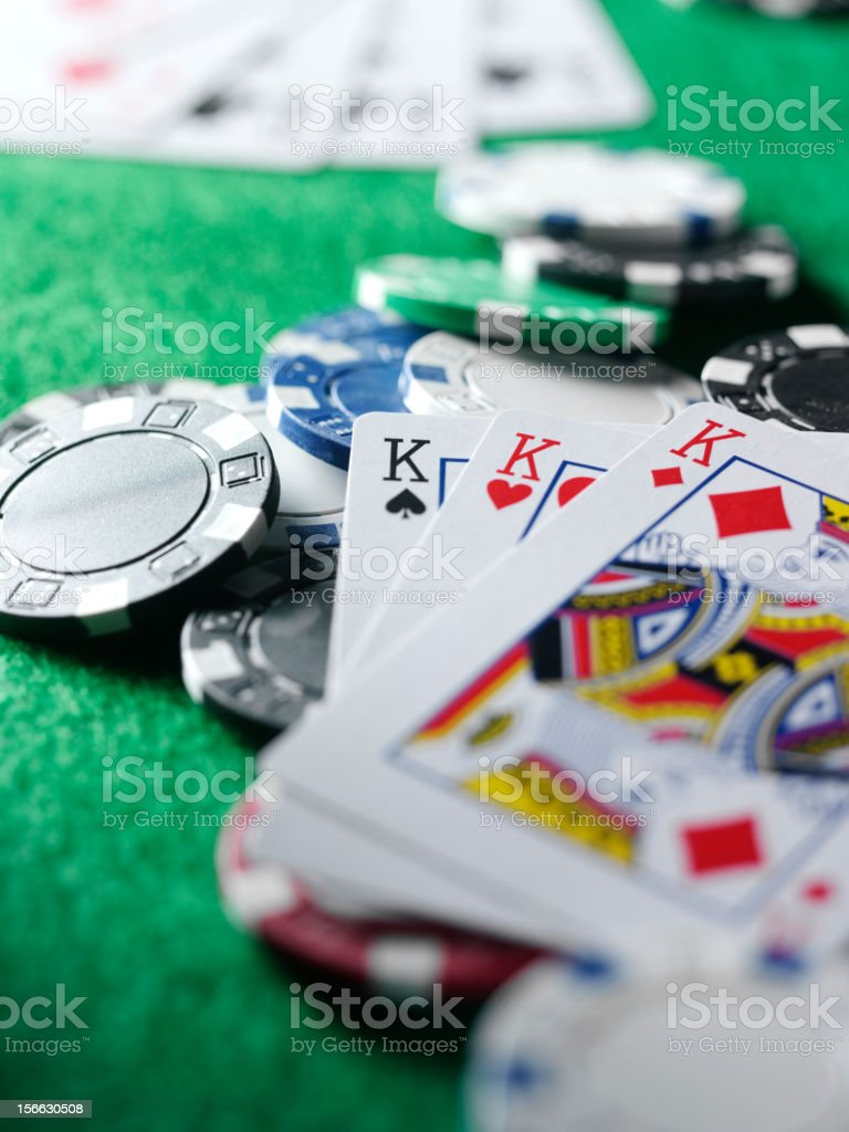 Game of Luck in Cards stock photo