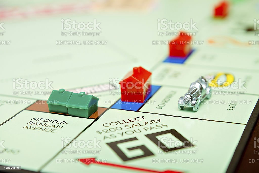 Game of Monopoly stock photo