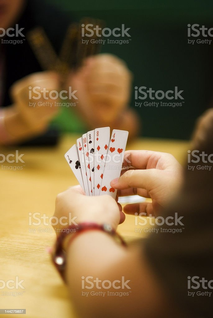 game of poker royalty-free stock photo