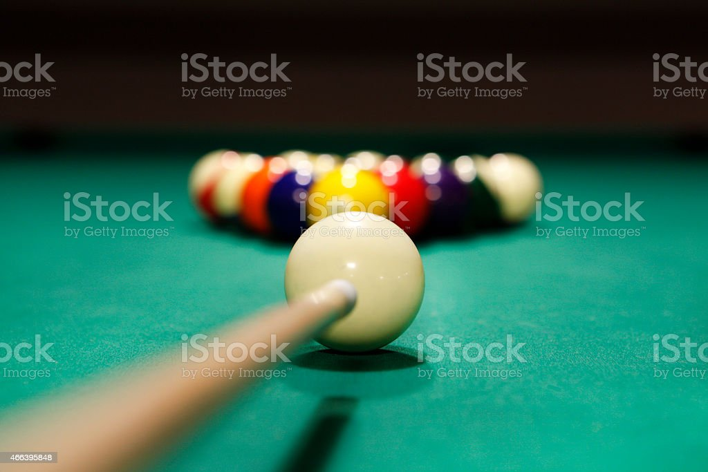Game of Pool or Billiards stock photo