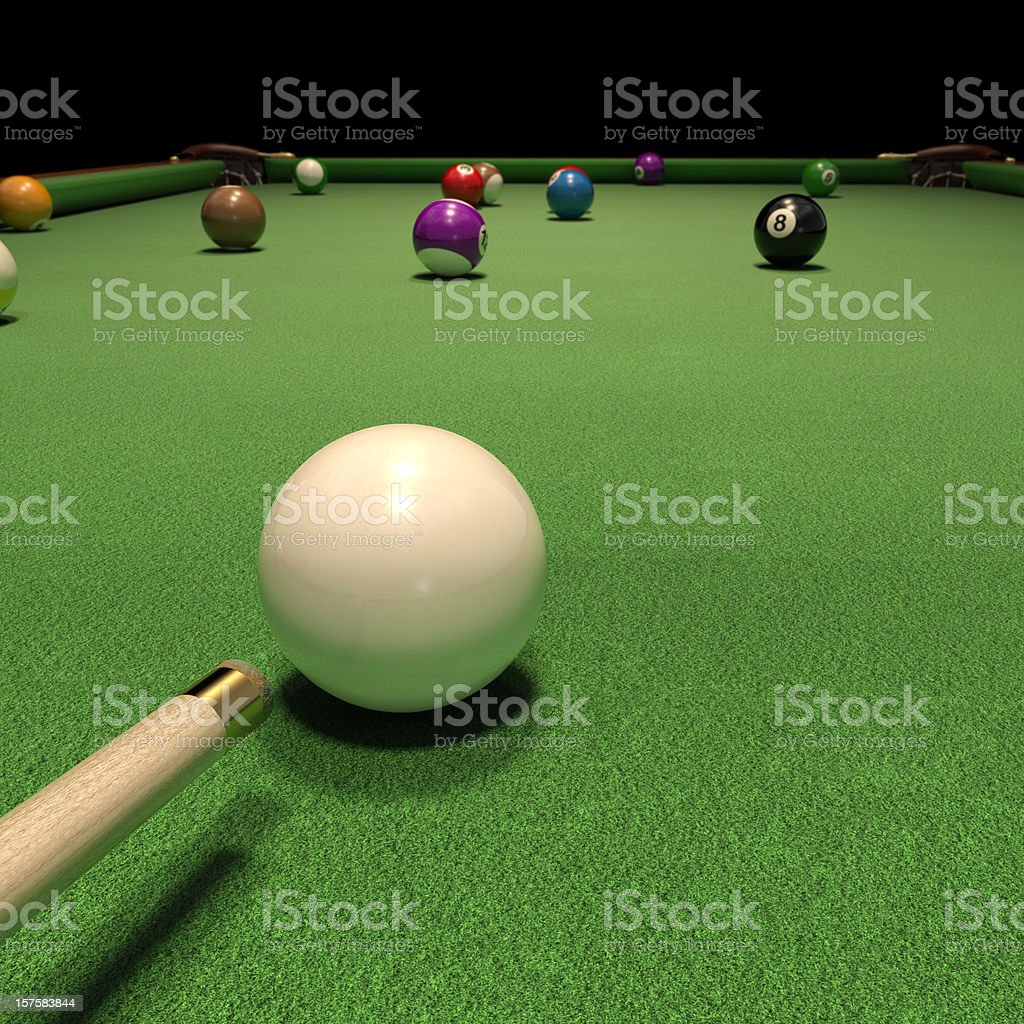 Game of Pool stock photo