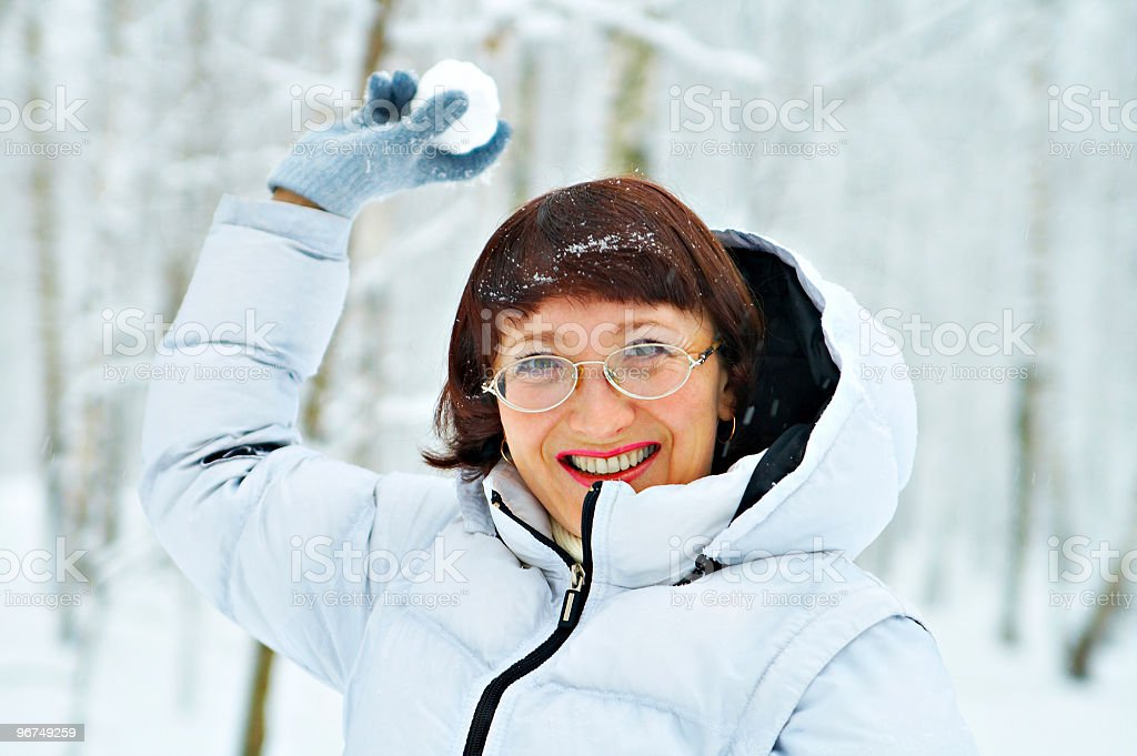 game of snowball royalty-free stock photo