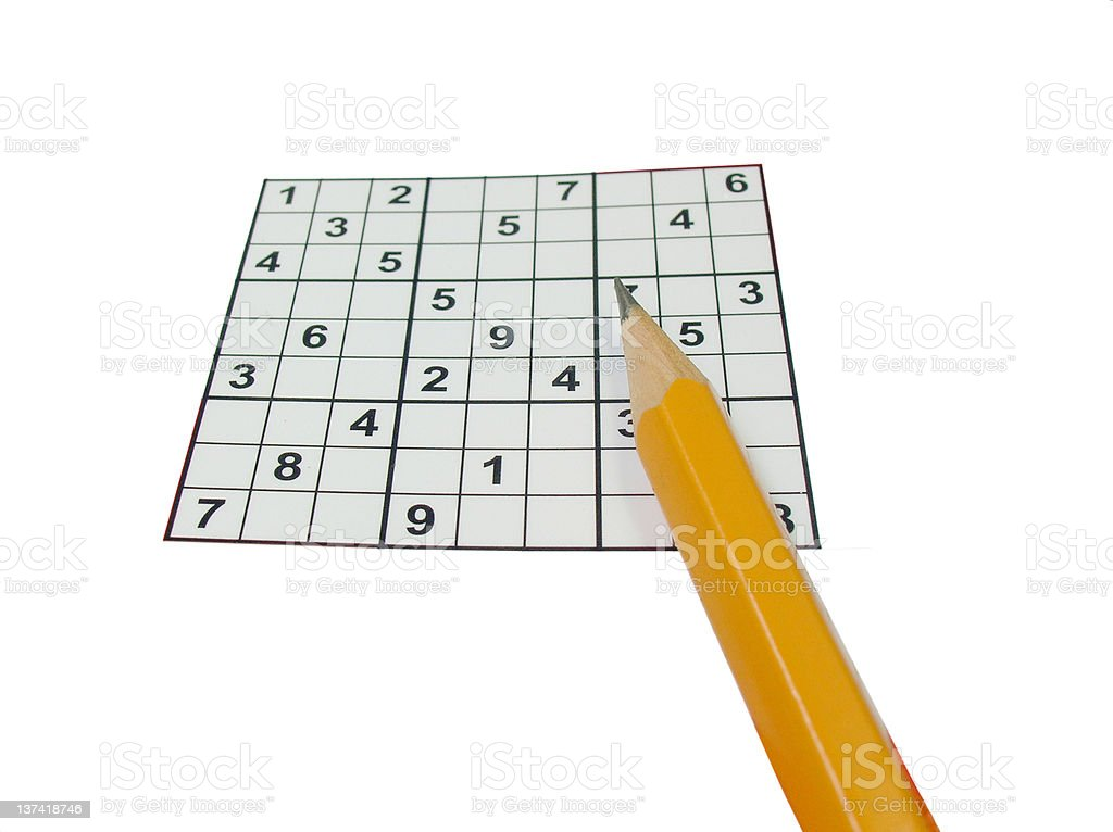 Game of sudoku stock photo