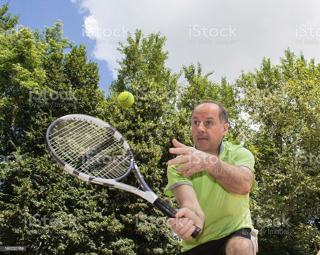 Game of tennis royalty-free stock photo